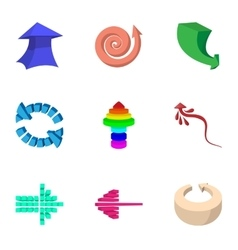 Index icons set cartoon style vector image
