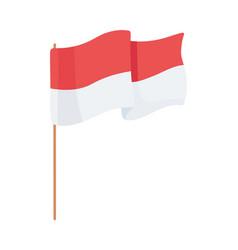 Indonesian flag symbol vector