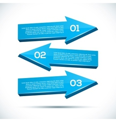 Infographic with big 3D arrows vector image