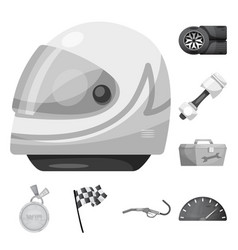 Isolated object of car and rally logo set of car vector
