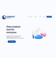 Landing page website theme template design vector