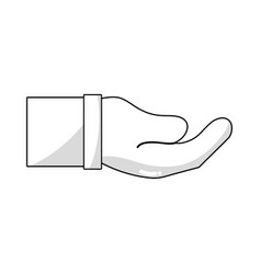 Line businessman hand and communication gesture vector