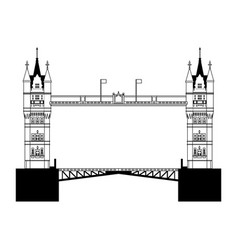 London bridge architecture vector