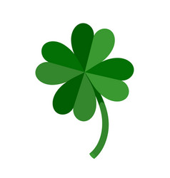 Lucky green four leaf clover for st patricks day vector