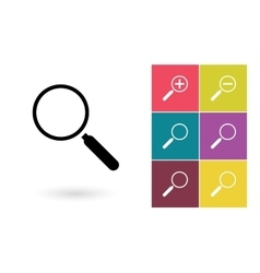 Magnify icon and zoom icons vector image
