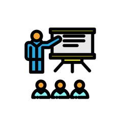 Presentation filled line icon vector