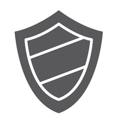 Protection glyph icon guard and safety shield vector
