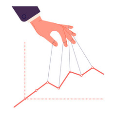 Puppet master controlling chart business vector