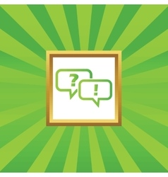 Question answer picture icon vector