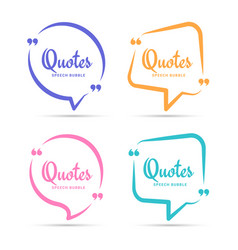 Quote box frame quotation bubble or quotes vector