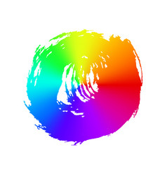 rainbow brush strokes - backdrop for your text vector image
