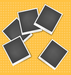realistic photo frame with white edges vector image