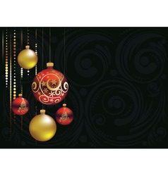 Red and Gold Christmas Balls4 vector image