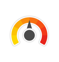 round temperature gauge vector image