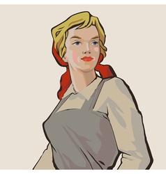 Rusgirl vector image