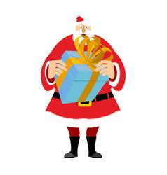 santa claus and gift box christmas and new year vector image