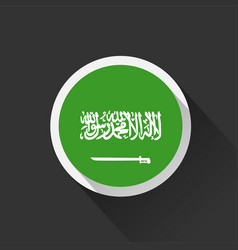 saudi arabia national flag on dark background vector image