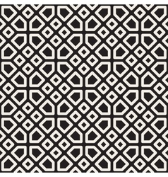 Seamless Black and White Mosaic Lattice vector image