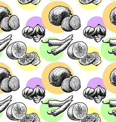 seamless pattern products vector image