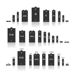 Set different batteries vector