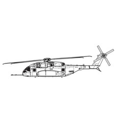 sikorsky ch-53k king stallion vector image