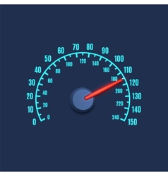 Speedometer simple icon vector image