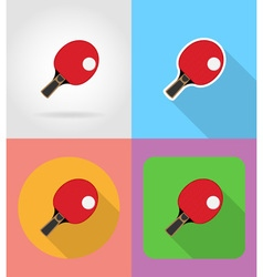 sport flat icons 06 vector image
