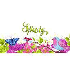 Spring garden background or greeting card natural vector