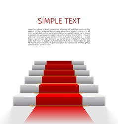 Staircase with red carpet vector