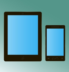 Tablet smartphone vector image