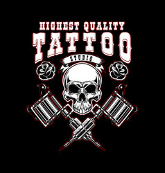 tattoo studio emblem template crossed tattoo vector image