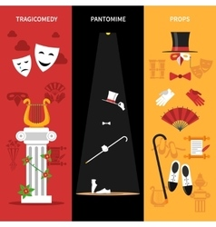 Theatre Performance Banners Set vector