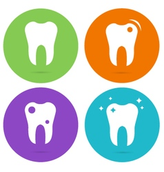 Tooth teeth circle icons vector