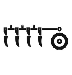 Tractor plow icon simple style vector