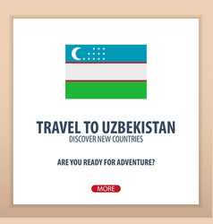 Travel to uzbekistan discover and explore new vector