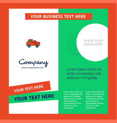 truck company brochure template busienss template vector image