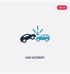 Two color car accident icon from insurance vector