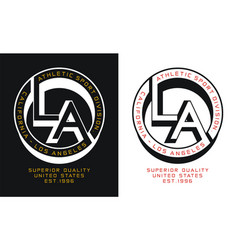 Typography athletic la california sport vector