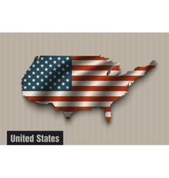 United states flag on vintage background vector