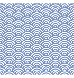 Wave Seamless Blue Pattern vector