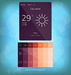 Weather widget 2 vector