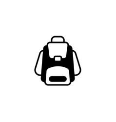 Web icon knapsack black on white background vector