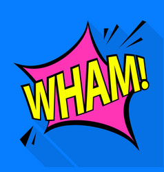 wham icon pop art style vector image