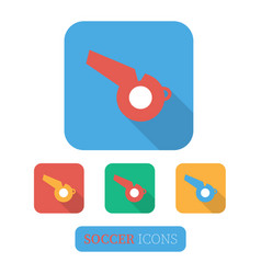whistle icon set vector image