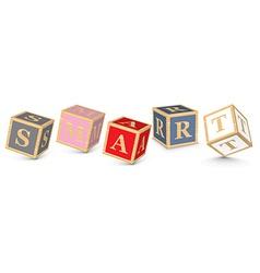 Word SMART written with alphabet blocks vector