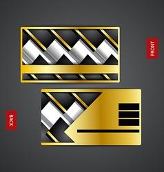 Business card design creative vector image