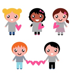 cute kids collection vector image
