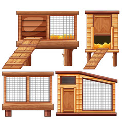 different designs of animal coops vector image