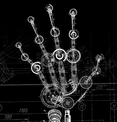 hand of many mechanisms vector image vector image