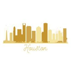 Houston city skyline golden silhouette vector